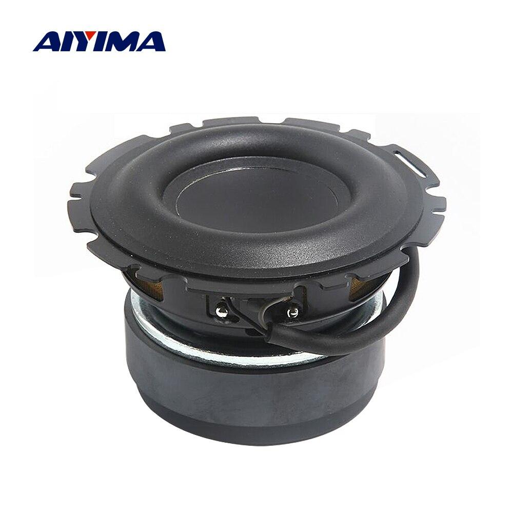 AIYIMA 1Pcs 4 Inch Subwoofer Speaker 4 Ohm 50W Bass Unit Long Stroke Rubber Multimedia Audio Speaker Amplifier Home Theater