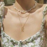 fashion clear natural stone beaded gold dragon hollow rhinestone pendant necklace women handmade bead strand metal charm jewelry