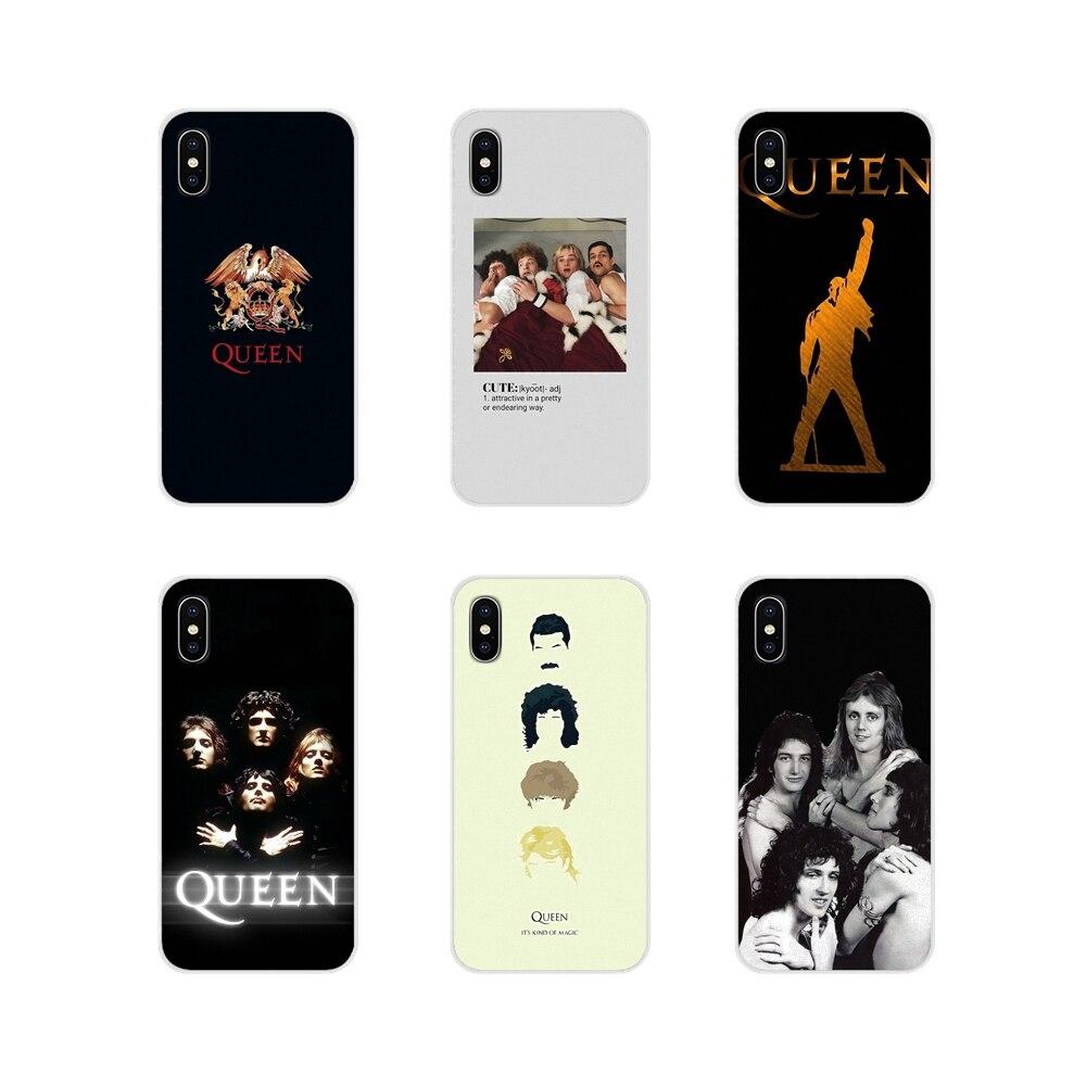 Accesorios cubiertas de los casos del teléfono reina grupo de Rock para Samsung Galaxy J1 J2 J3 J4 J5 J6 J7 J8 Plus 2018 de 2015 de 2016 a 2017