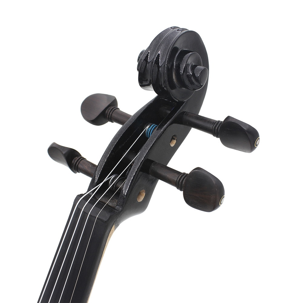 4/4 Electric Silent Violin Fiddle Musical Instrument Blue Electric Violin With Accessories Case Cable Headphone For Music Lovers enlarge