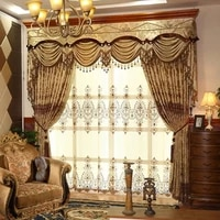 european style curtain hollow water soluble embroidery embroidery shading customization curtains for living dining room bedroom
