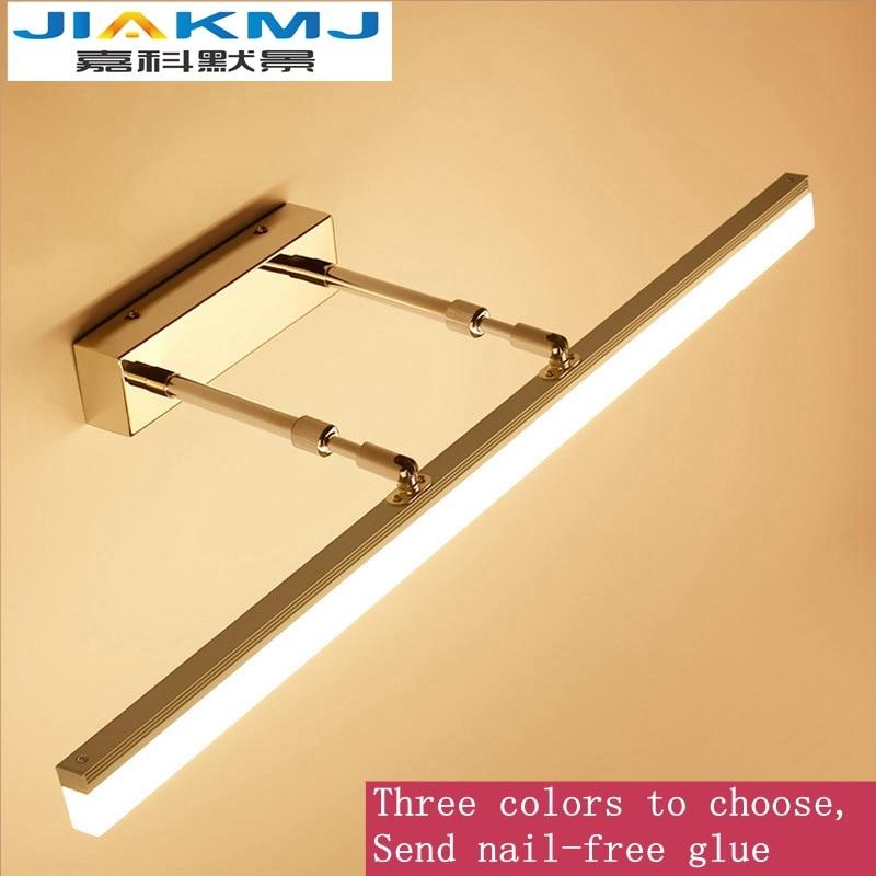 Moderno led espejo faro Luz de baño 9W 12W espejo telescópico faro Simple anti-niebla dorado maquillaje espejo Luz