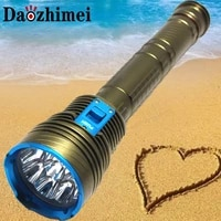8000 lumens led diving light 9xl2 waterproof lamp submersible lamp work underwater torch diving light326650 batterycharger