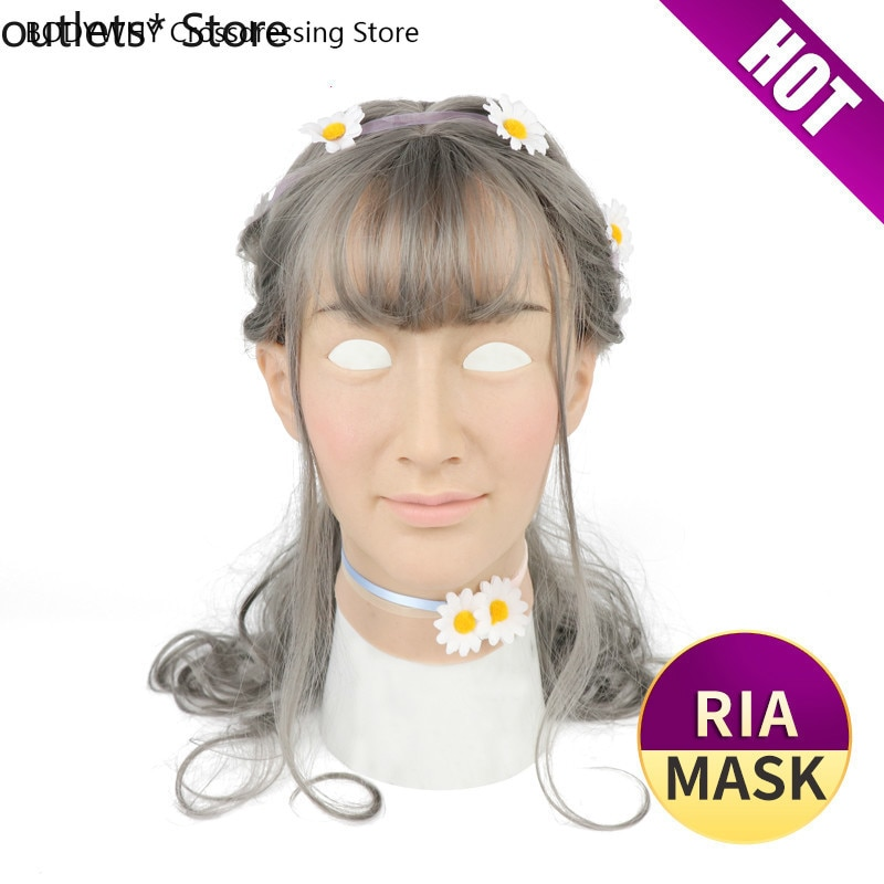 Silicone Mask Transgender Silicone Shemale Artificial Skin  Cosplay Women Crossdresser Latex Dress for Male Sexy Party Supplies