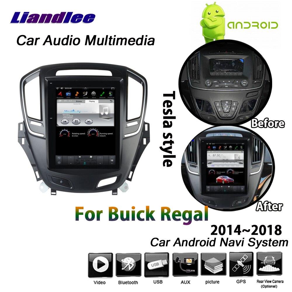 Liandlee Android 2 + 32G para Buick Regal 2014 ~ 2018 estéreo estilo Tesla Carplay enlace espejo mapa WiFi GPS Navi navegación Multimedia