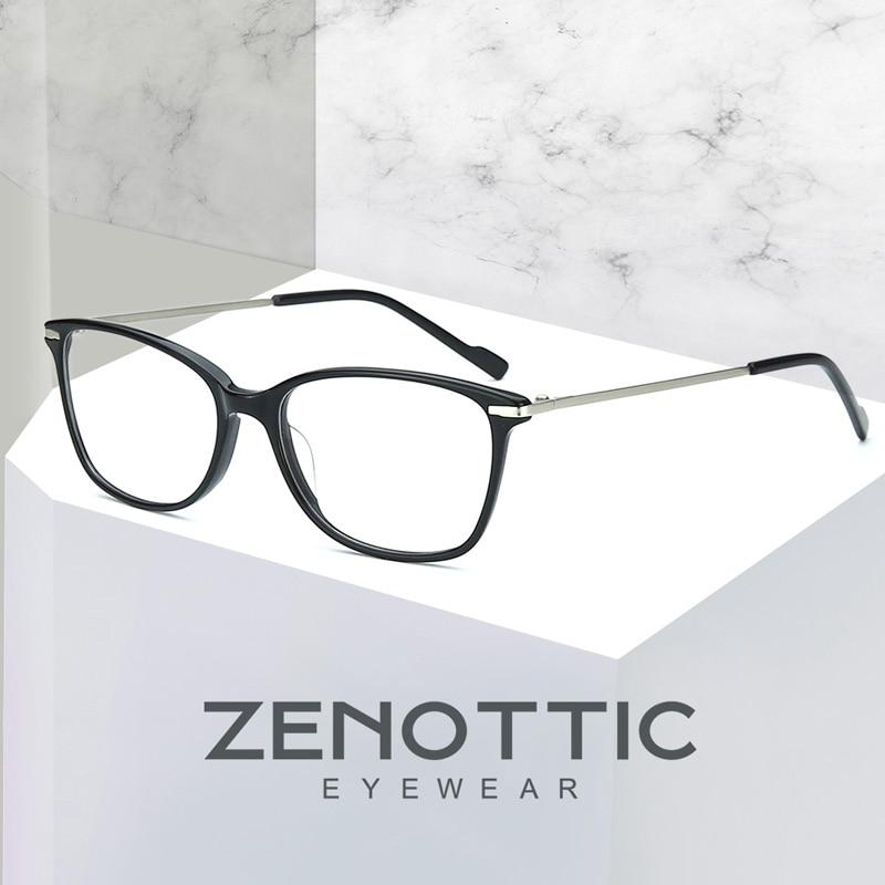 ZENOTTIC Prescription Eyeglasses for Women Men Vintage Square Frame Optical Hyperopia Myopia Photoch
