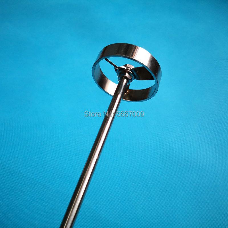 1 conjunto de aço inoxidável laboratório tipo turbina pá lâmina diâmetro 50mm 60mm 80mm impulsor agitação lâmina com haste para sitrrer