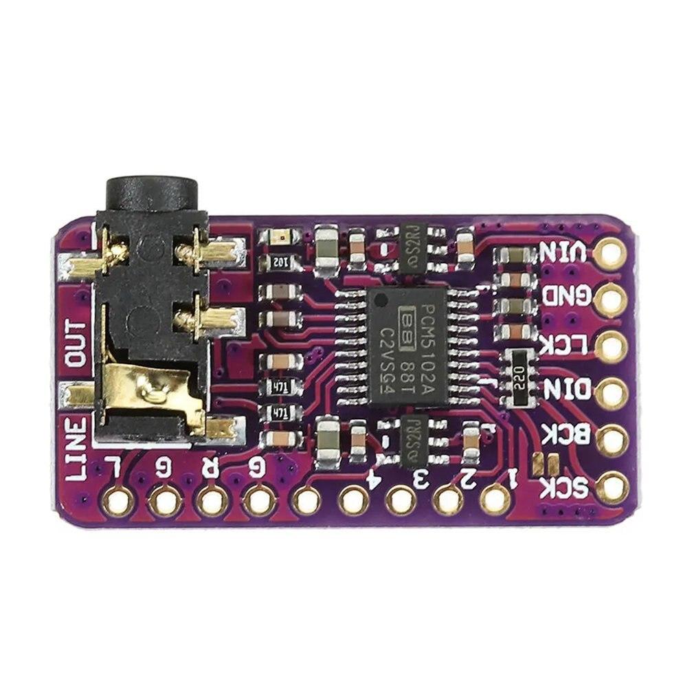 GY-PCM5102 I2S IIS, placa de decodificador de DAC de audio digital sin pérdidas de microordenador de un solo chip para Raspberry Pie