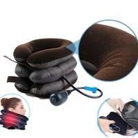 u neck pillow air inflatable pillow cervical brace neck shoulder pain relax support massager pillow pain relief tractor