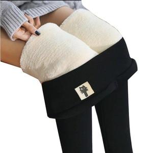Зимние женские теплые леггинсы с высокой талией, плотные флисовые брюки большого размера, бархатные эластичные женские облегающие брюки, брюки-карандаш