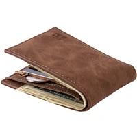 luxury wallet men leather slim with zipper coin purse bag small money purses dollar ultra slim purse money wallet designer