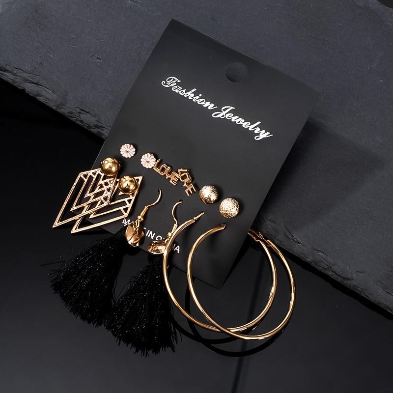 12 чифта / комплект дамски обеци - Модни бижута - Снимка 5
