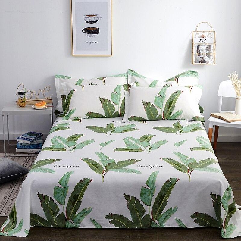 الكلاسيكية الأزهار السرير ورقة مسطحة غطاء سرير قطن المخدة الطفل الاطفال الكبار المفرش غطاء واقي للملاءة # s