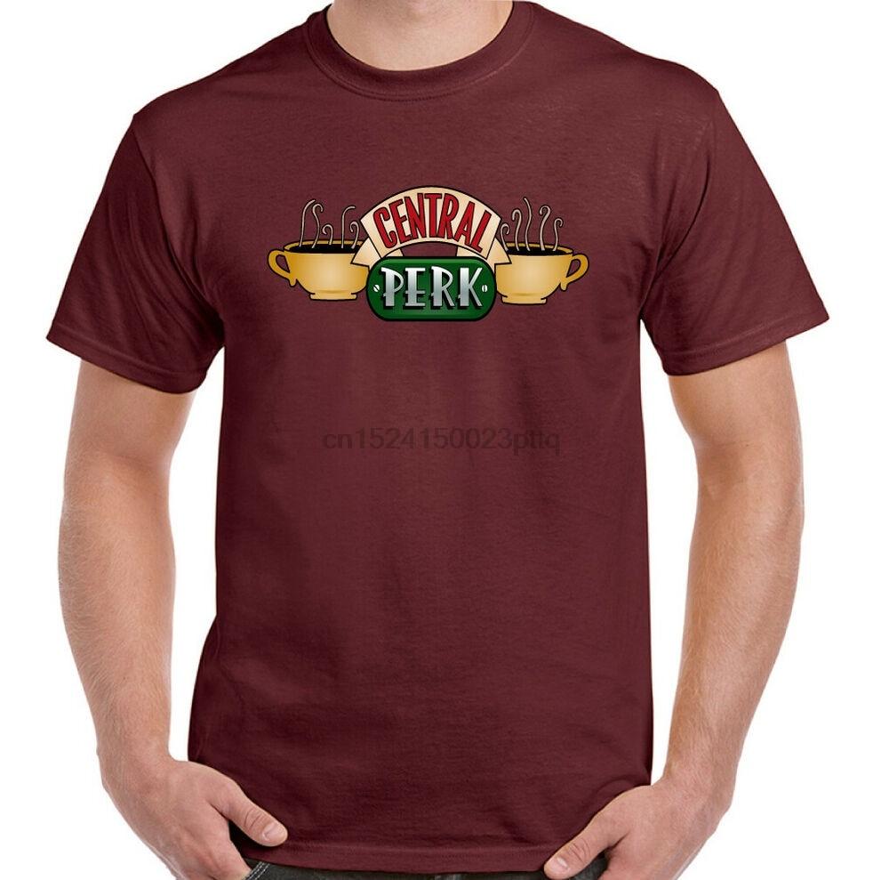 Avantage Central hommes amis inspiré café boutique Logo T-Shirt américain Sitcom haut