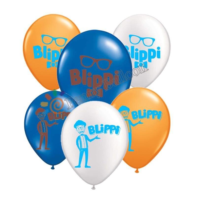 12 шт. в упаковке, Blippi детские надувные шарики на день рождения украшения, товары для вечеринки из латекса воздушный шар Globos игрушки для детей