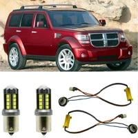 fog lamps for dodge nitro 2 8 crd 130kw 2007 6 2012 12 stop lamp reverse back up bulb front rear turn signal error free 2pc