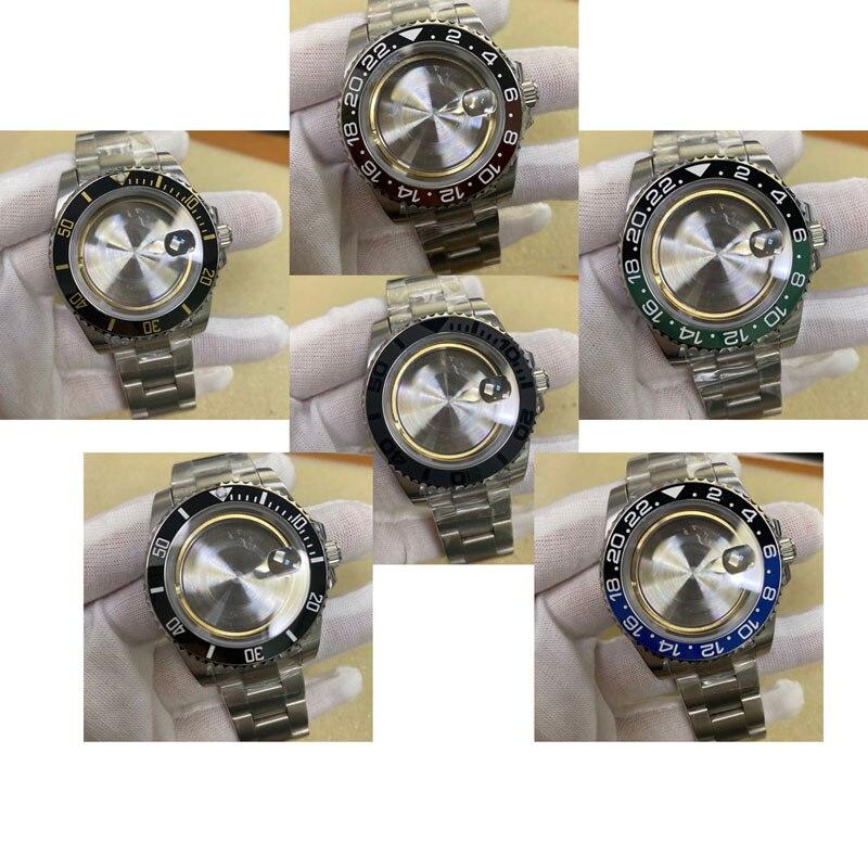 Relógio de Vidro Adequada para Eta2836 Safira Inoxidável Case Cinta Movimento A726 Acessórios Relógio 40mm Aço