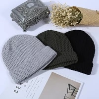 2021 trend winter knitted corn jacquard hat twist double layer adult wool hat duck tongue flanging hat watermelon hat
