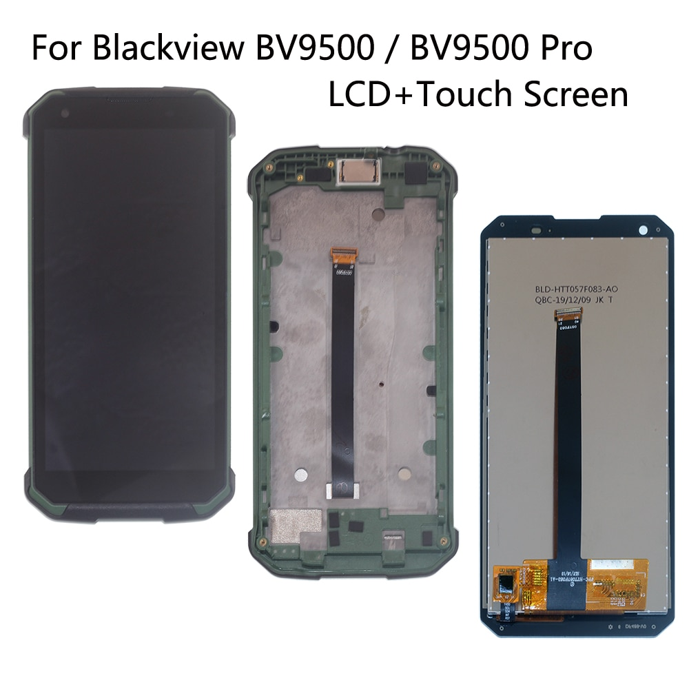 Original For Blackview BV9500 LCD Display Touch Screen Digitizer Assembly With Frame Replacement Parts For BV9500 Pro LCD Screen jumper original transmitter t16 pro parts fit for replacement t16 v2 accessories hall sensor gimbals lcd screen jp4 in 1 module