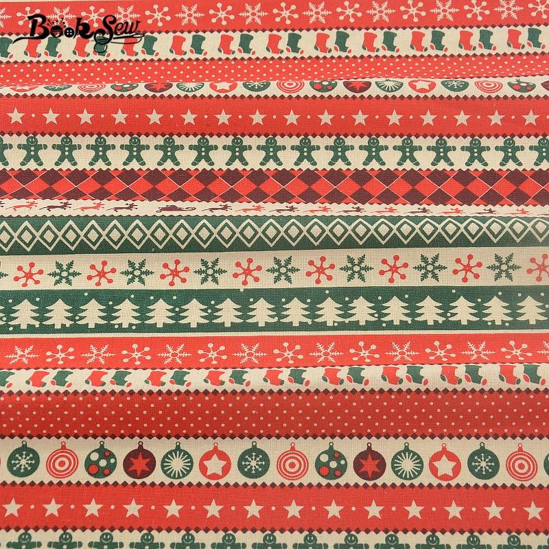 Booksew Christmas African Fabric Dye Deer Curtain Cushion Zakka Cotton Linen Fabric Tissu Telas De Algodon Para Patchwork Sewing