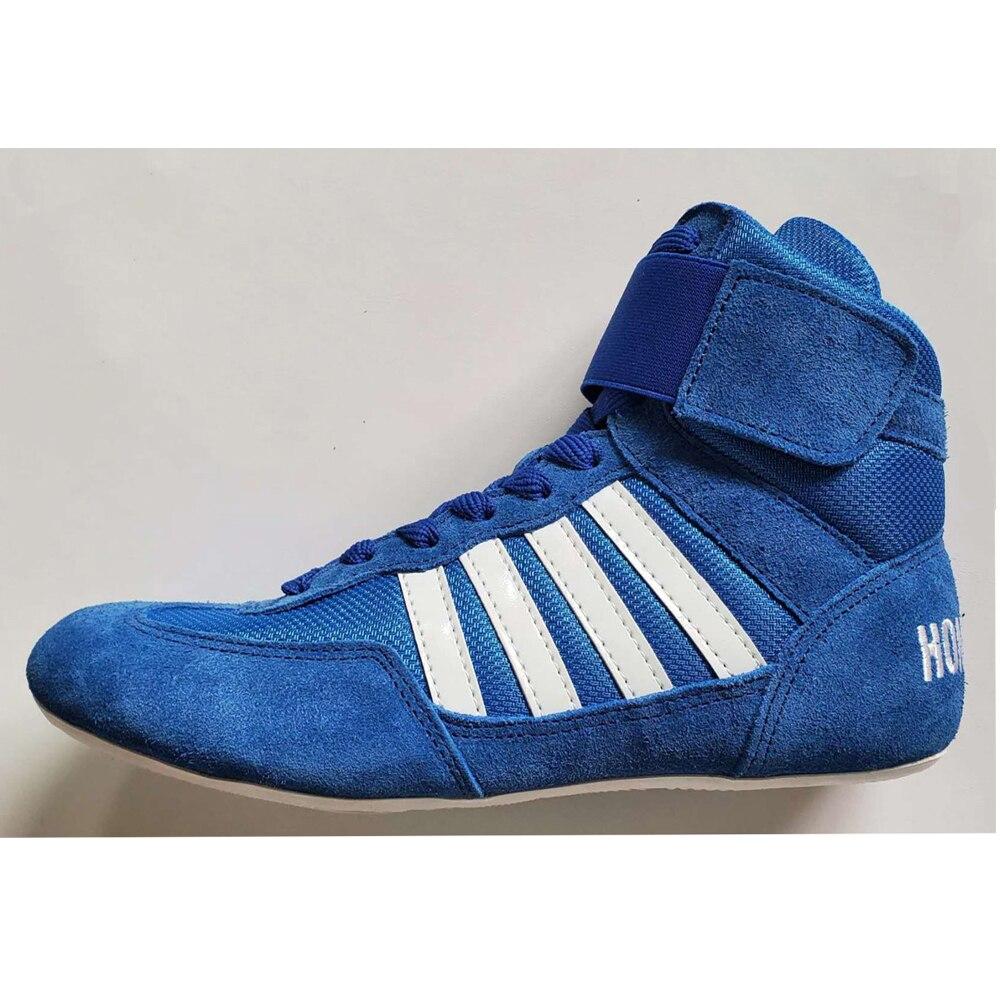 2020, zapatos de lucha para entrenamiento unisex, zapatos de goma en el extremo, zapatillas de cuero artificial, zapatos profesionales de boxeo