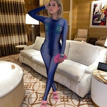 Autumn Fashion One Piece Outfit Sportswear Workout Printing Long Sleeve Rompers Womens Jumpsuit Stre