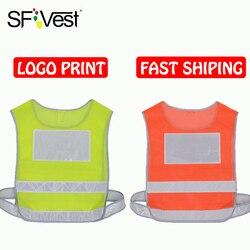 Segurança segurança alta visibilidade coletes tráfego rodoviário adulto refletor reflexivo coletes aviso jaqueta logotipo impressão