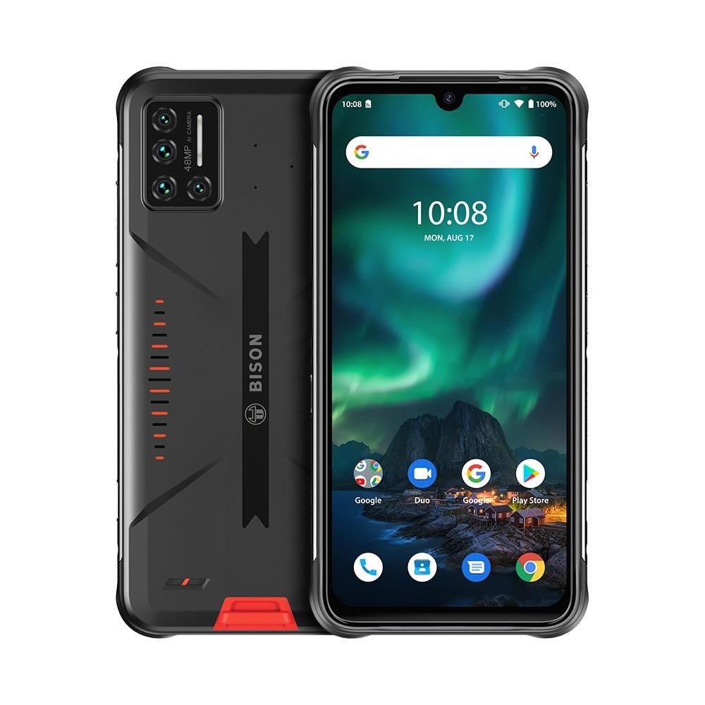 Перейти на Алиэкспресс и купить Смартфон UMIDIGI BISON IP68/IP69K защищенный, четыре камеры 48 МП, экран 6,3 дюйма FHD +, 6 ГБ + 128 Гб, NFC, Android 10