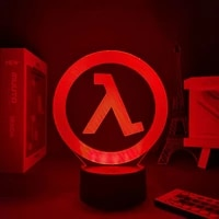 3d night light cs half life colorful remote control gradient usb touch night decoration led desk lamp birthday holiday gift