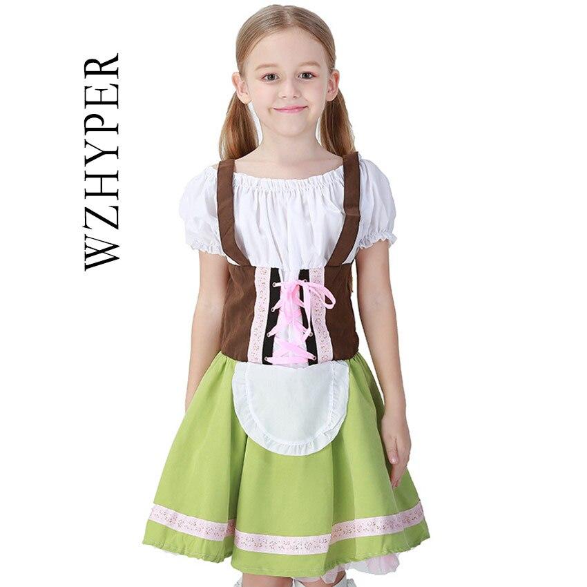 Niñas Grid Farmwear disfraz Cosplay Riding Hood traje comprobaciones Oktoberfest Sweetie Inga vestido cerveza Maid disfraces Halloween