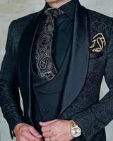 mens wedding suits 20201 italian design custom made black smoking tuxedo jacket 3 piece groom terno suits for men