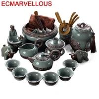 dekorasyon aksesuarlar kung fu shabby chic kitchen accessories garden decoration with infuser tea pot teapot chinese teaware set