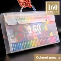 brutfuner 160 colors professional oil color pencils set lapis de cor artist painting sketching color pencil school art supplie