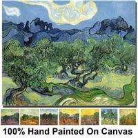 van gogh olive trees oil paintings replica handmade canvas art modern landscape yellow artwork for living room home decor gift