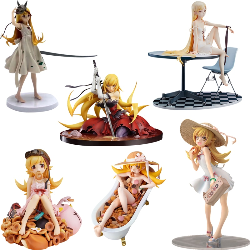 Nisemonogatari Monogatari Oshino Shinobu Bakemonogatari ПВХ фигурка игрушка японское аниме сексуальная девушка взрослая Коллекционная модель куклы