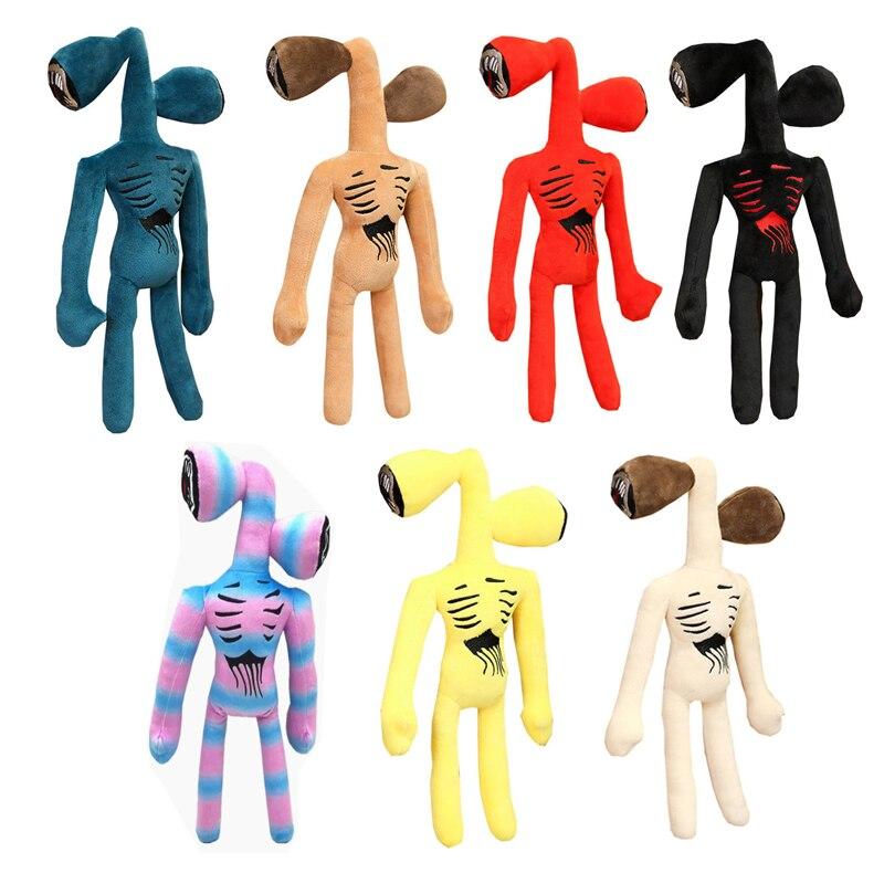 Милые плюшевые игрушки с головой сирены, мягкие СТРАШНЫЕ КУКЛЫ с головой сирены, мягкие игрушки-животные, черная кошка, мягкие игрушки для д...