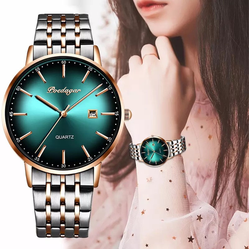 2021 POEDAGAR Luxury Ladies Watch Women Waterproof Rose Gold Steel Strap Women Wristwatch Top Brand