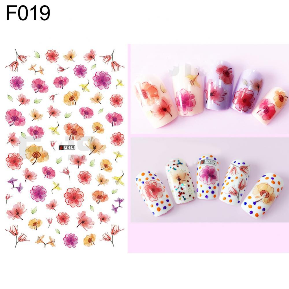 70% Hot Sale 1 Sheet Flowers Butterfly Pattern Nail Art Stickers DIY Decal Manicure Tools Women Nail