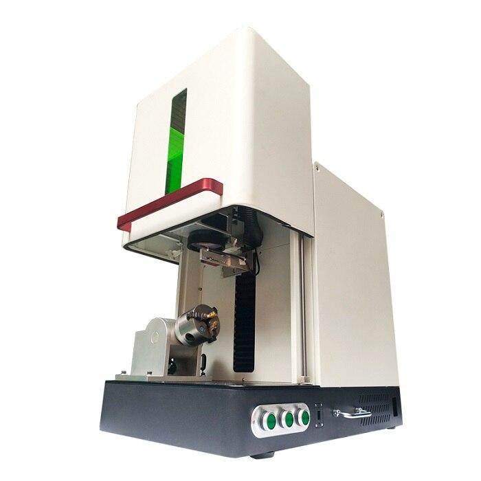 Key rings marking machine 20w 30w 50w fiber laser enclosed marking machine Rotary enlarge