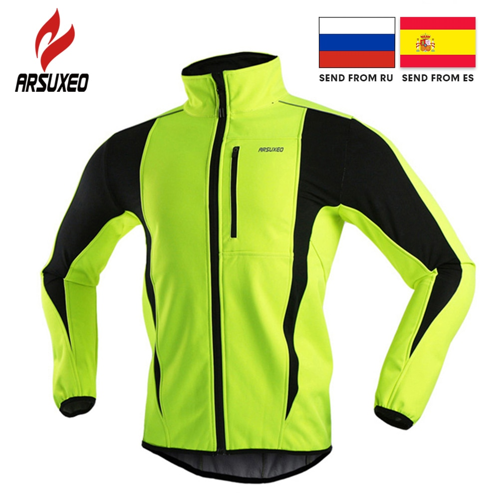 aliexpress - ARSUXEO Winter Warm Up Thermal Fleece Cycling Jacket Bicycle MTB Road Bike Clothing Windproof Waterproof Long Jersey Jersey