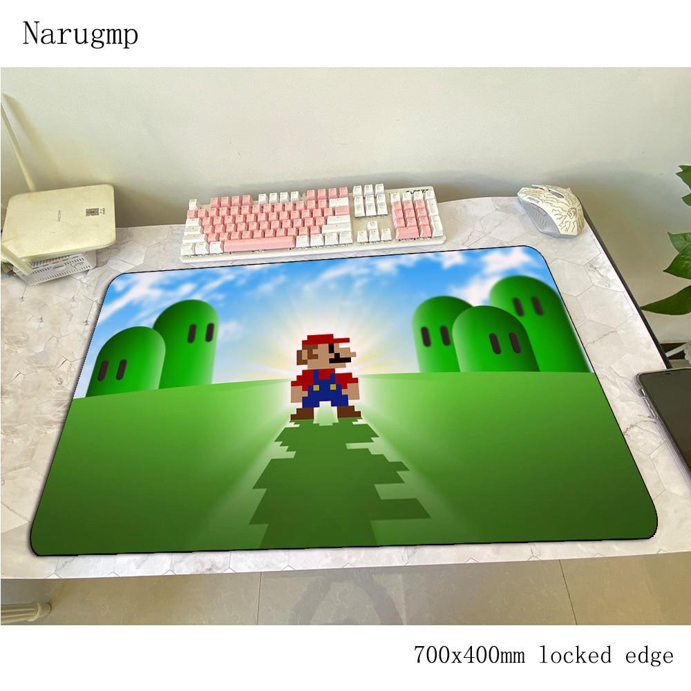 Alfombrilla de ratón Mario 700x400x3mm, alfombrilla de ratón para videojuegos de anime, alfombrilla grande para escritorio de oficina, alfombrilla para ratón con impresión HD, juegos de pc, alfombrillas para gamers