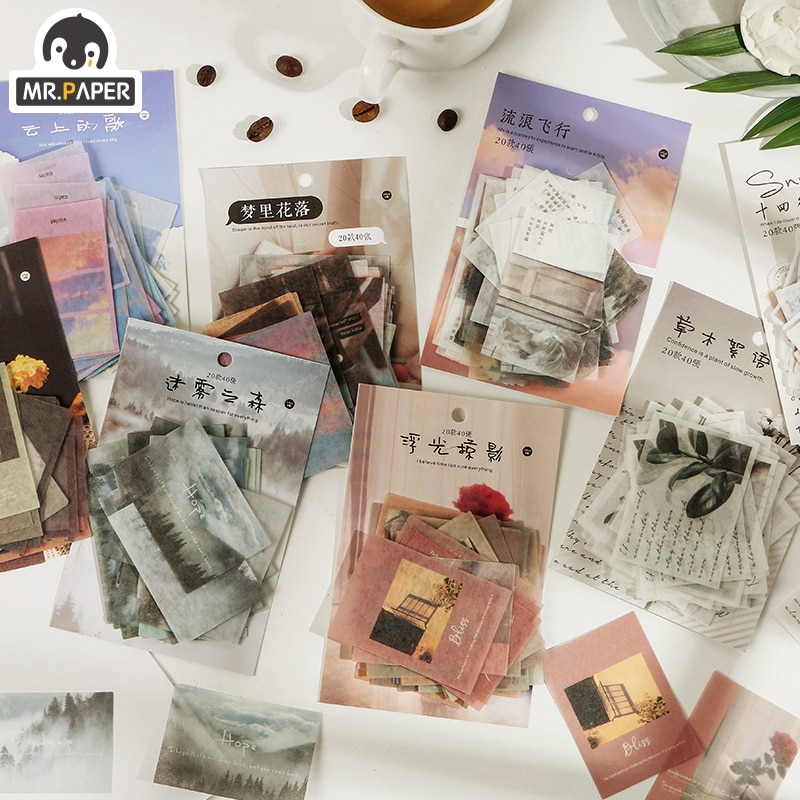 Mr.paper 8 Designs Time's Letters Record Escol DIY Project Album Diary Deco Planner Photos Junk Scrapbooking Background Craft
