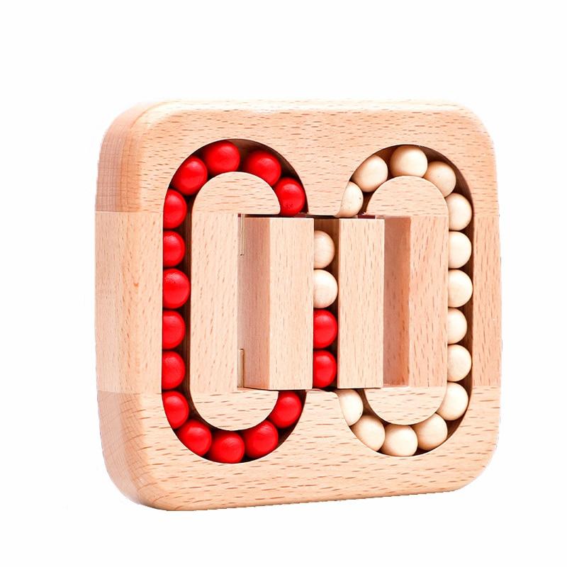 Обучающие игрушки Монтессори, деревянные бусины, пазлы-трансформеры, игры для обучения Монтессори, Обучающие деревянные игрушки для детей, ...