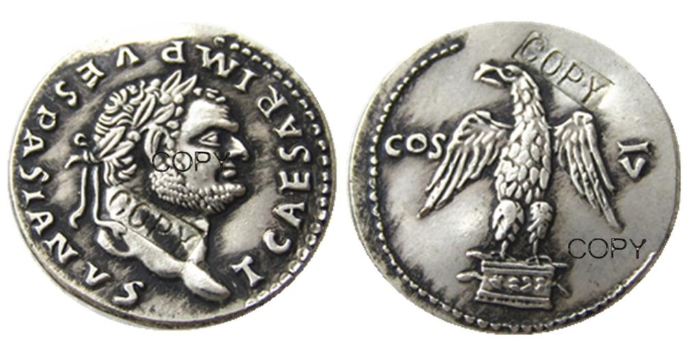 Rm (31) romano antigo prata chapeado moedas de cópia