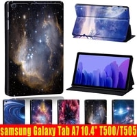 for samsung galaxy tab a7 10 4 inch sm t500 sm t505 2020 pu leather tablet folding stand cover case pen