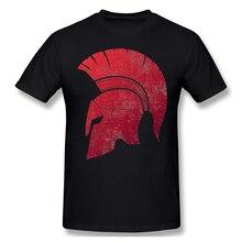 Grunge casque spartiate impression coton drôle t-shirts assassins creed hommes mode Streetwear