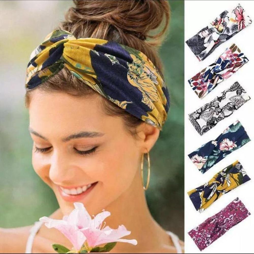 2021 Turban Summer Headband Boho WideTwist Hair Band Soft Fabric Headbands For Women Girls Thick Fashion Accessories Gift