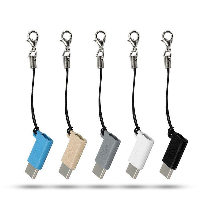 Cable USB Mini, Micro USB hembra a tipo C 3,1, adaptador macho, lote convertidor USB C
