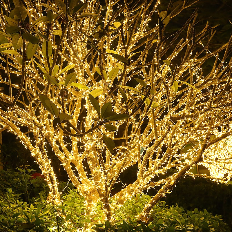 100M 800/1000LED Christmas String Light Outdoor Festoon Fairy Garland Lights Decor Outdoor Garden Wedding Party Holiday Xmas