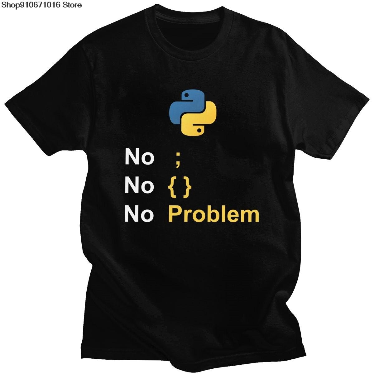 Trend Computer Programmeertaal Python T-shirt Ontwerp Voor Code Tshirt Programmeur Homme Tee Coder T-shirt Camiseta Gift Merch
